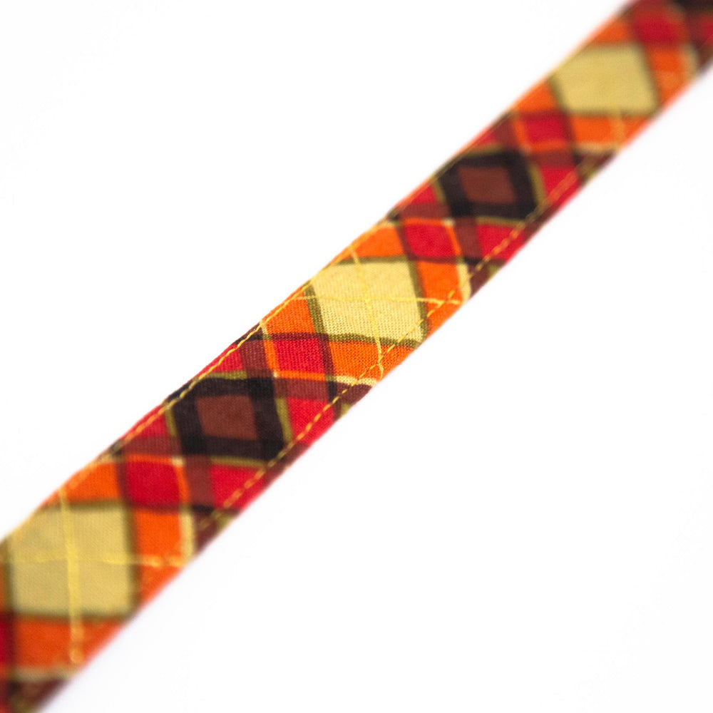Orange Tartan Collar