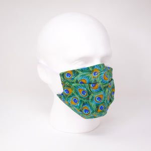 Peacock Pleated Face Mask