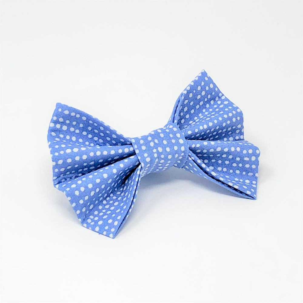 Dots of Fun Cornflower Blue Bow