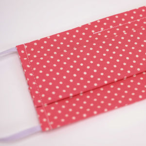 Polka Dot Pink Pleated Face Mask