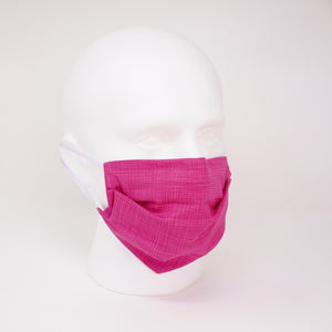Sketch Pink Pleated Face Mask