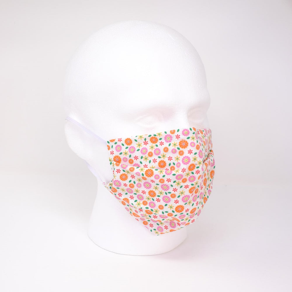Posy Pleated Face Mask