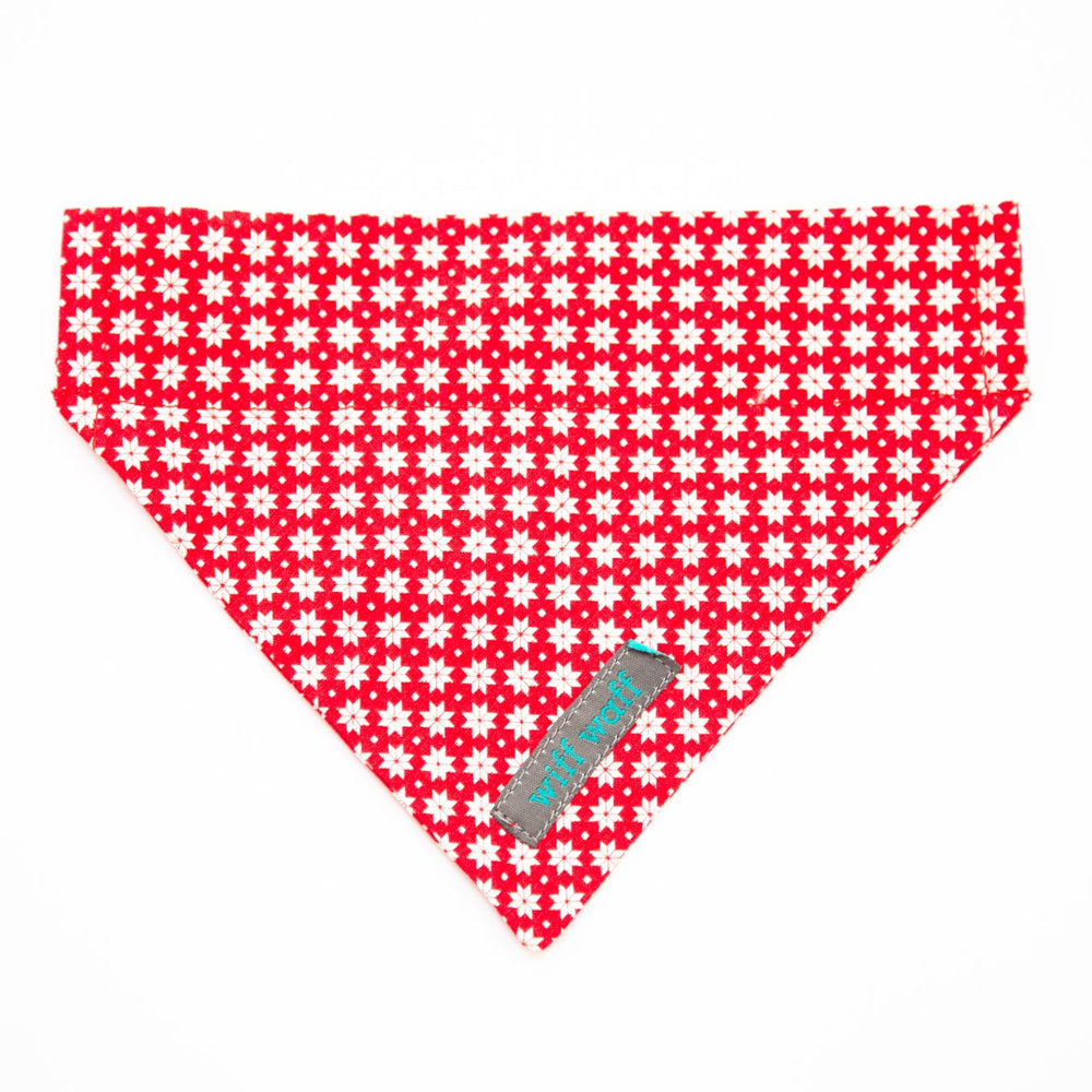 Scandi Winter Red Bandana