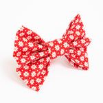Red Snowflakes Bow