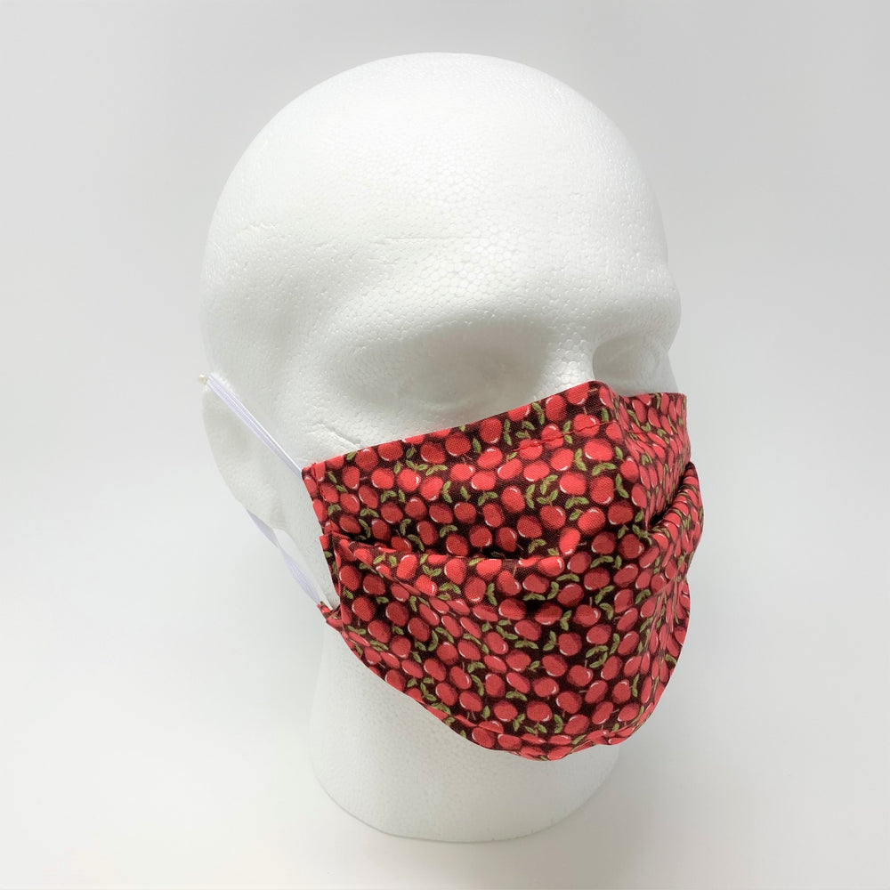 Red Apple Pleated Face Mask