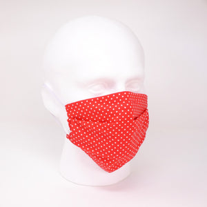 Polka Dot Red Face Mask