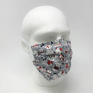 Red Rover Pleated Face Mask