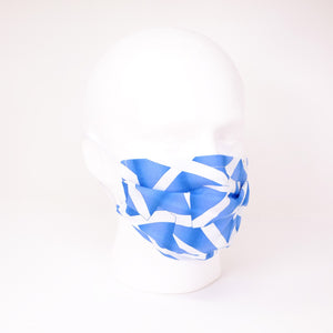 Scottish Flag Pleated Face Mask