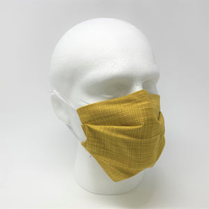 Sketch Yellow Pleated Face Mask