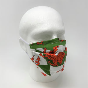 Welsh Dragon Pleated Face Mask