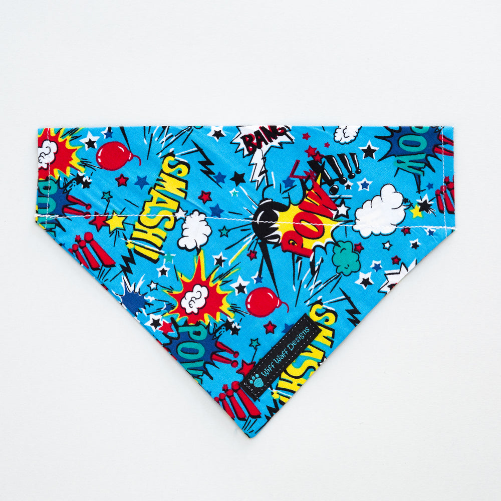 Blue Pow Smash Bandana