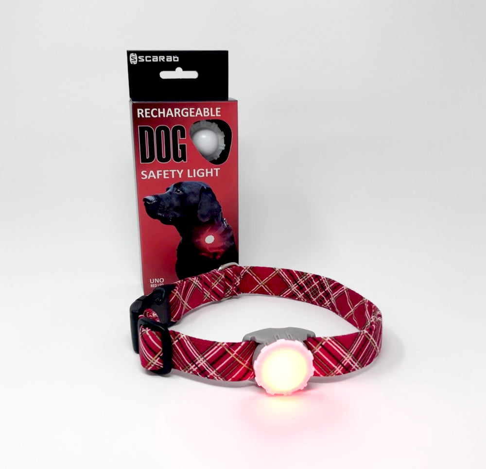 Scarab Uno Red - Rechargeable Dog Safety Light