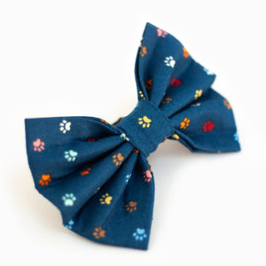 Navy Paws Bow