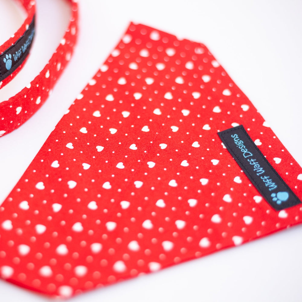 Red Heart Beat Bandana