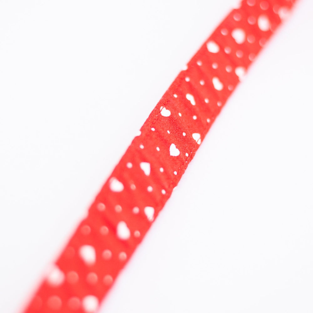 Red Heart Beat Collar