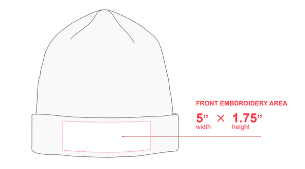Embroidery guideline beanies
