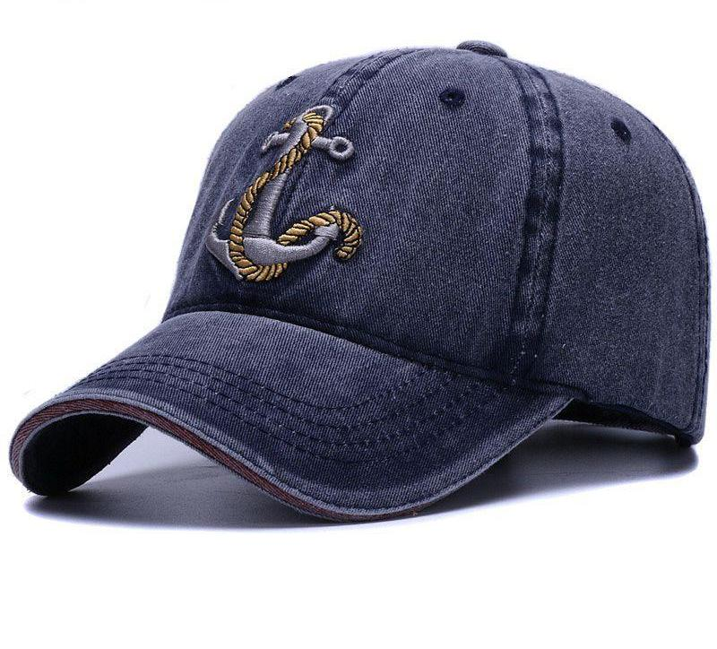 3D embroidery anchor vintage dad hat | Premium Caps