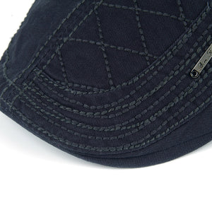Cotton Berets Casual Peaked grid embroidery