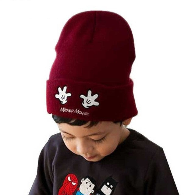Kids Winter Beanie Wool Embroidery Knit Cute Baby  Fit For 1-6 Years | Premium Caps