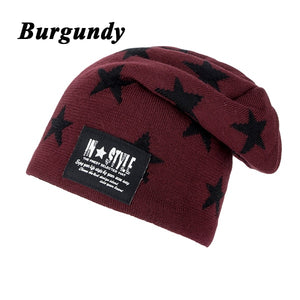 New 2016 Knitted Gorro Touca Mens Winter Hat Beanie Men Warm skullies Casual Cap Two layers Have thick WM051