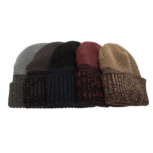 Joymay 2018 Two way Wearing Winter Beanies Hat  Disorderly Color Unisex Plain Warm Soft Skull Knitting Cap Hats Wholesale WM086