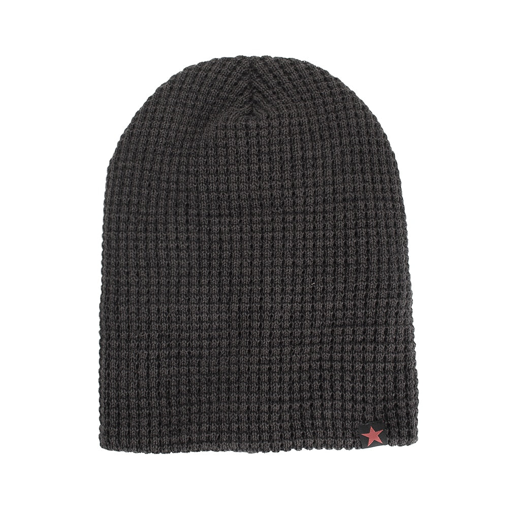 Joymay Two way Wearing Winter Beanies Hat  Disorderly Color Unisex Plain Warm Soft Skull Knitting Cap Hats Wholesale WM087