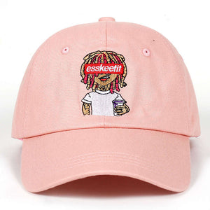Lil Pump embroidery dad hat Esskeetit Popular Language baseball cap Lets Get it 100% Cotton golf Cap Snapback Hat Bone Garros