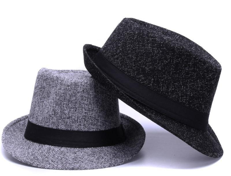Fashion Linen fedora hats for men women