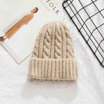 Plaid Knit Winter Hats For Women Winter Beanies Hats For Girls Caps Hats Ladies Bonnet Warm Skullies Beanies Caps Gorres