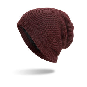 Joymay Winter Beanies Hat Unisex Plain Warm Soft Skull Knitting Cap Hats  Gorro Caps For Men Women Dropshipping WM095