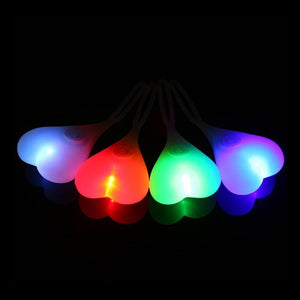 Bike Light Bike Balls Tail Bike Silicone Waterproof Tail Light Rear Lights Heart Shape Night Warning Led