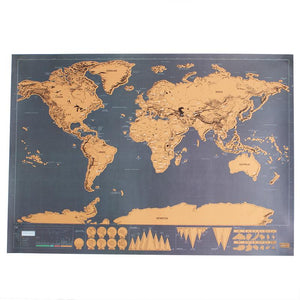 P-flame DIY Deluxe Clear Travel Map Wall Decoration Custom World Scratch Map Map Mundi Decal Decoration Painting Poster