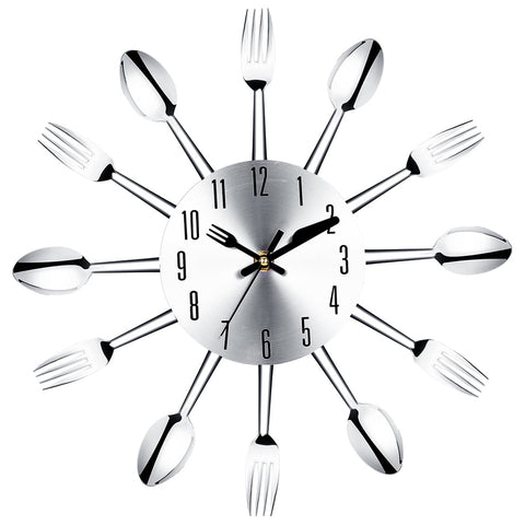 Knife fork and spoon wall clock