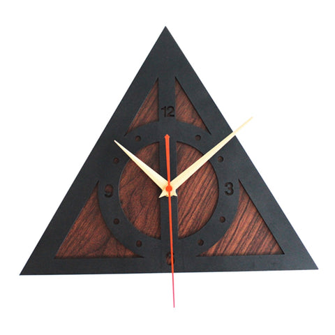 Creative Harry Potter The Deathly Hallows 3D Wall Clock