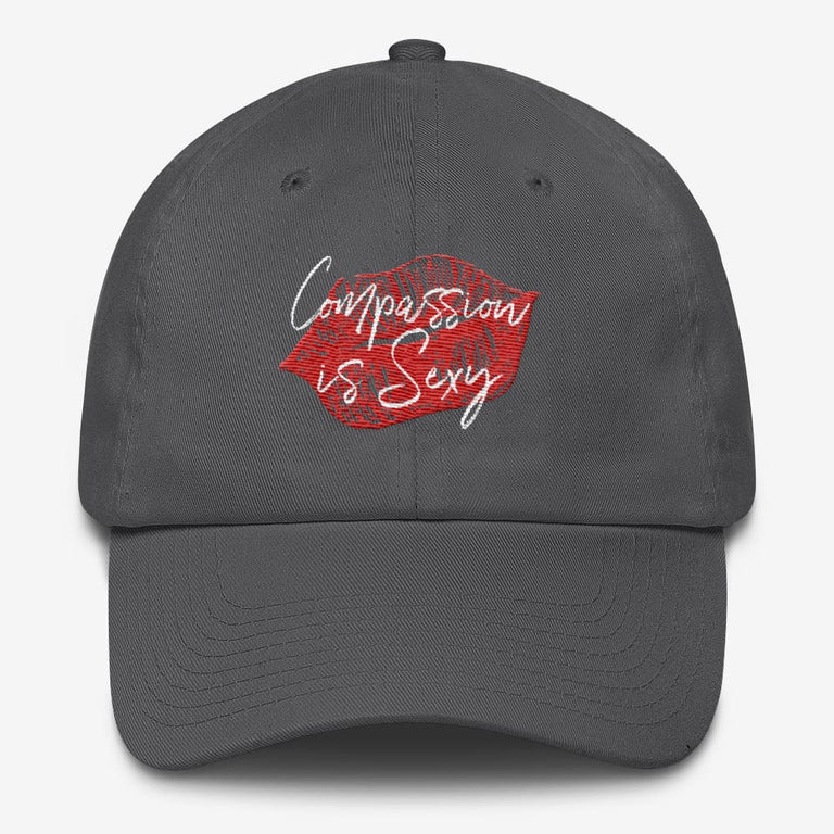 Compassion Is Sexy Cotton Cap - Charcoal