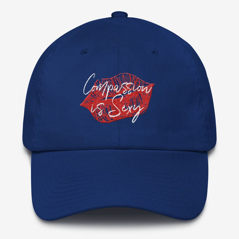 Compassion Is Sexy Cotton Cap - Royal Blue