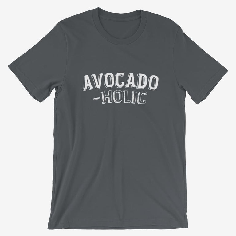 Mens Avocado-Holic Short-Sleeve T-Shirt - Asphalt / S
