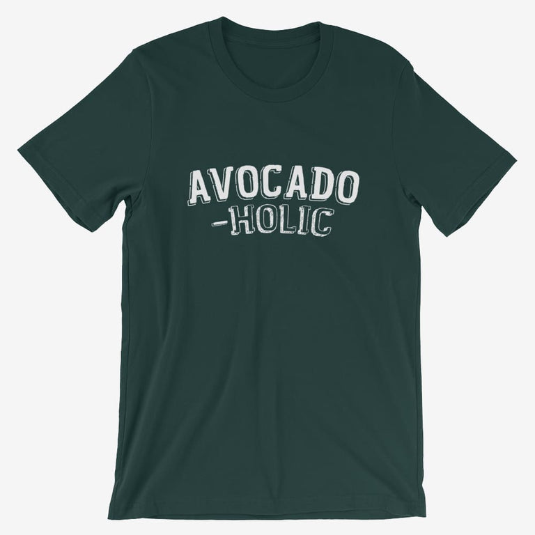 Mens Avocado-Holic Short-Sleeve T-Shirt - Forest / S