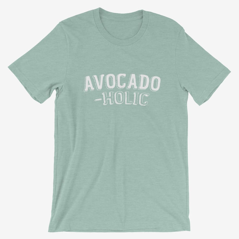 Mens Avocado-Holic Short-Sleeve T-Shirt - Heather Prism Dusty Blue / S