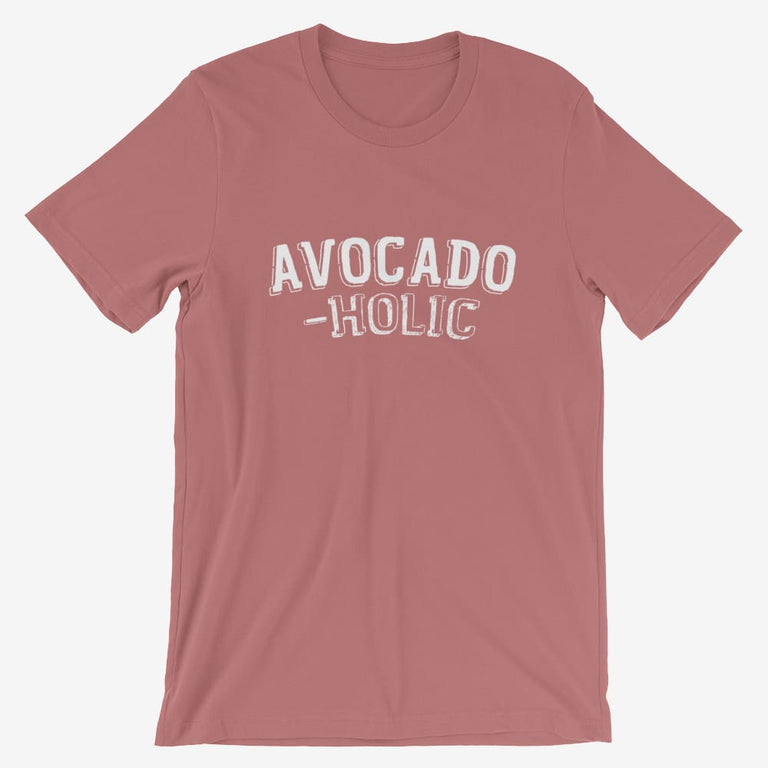 Mens Avocado-Holic Short-Sleeve T-Shirt - Mauve / S