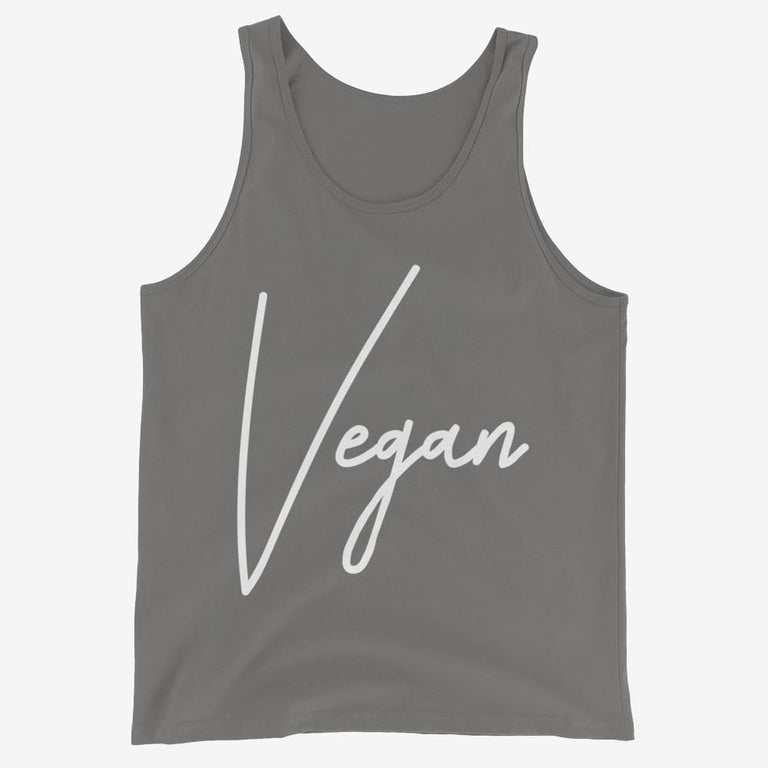 Mens Chic Vegan Tank Top - Asphalt / Xs