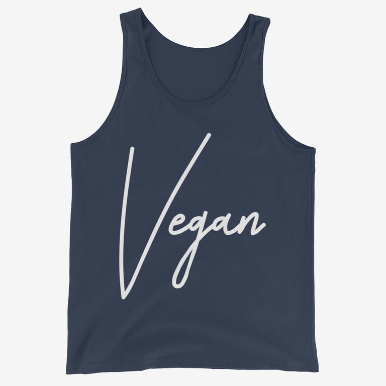 Mens Chic Vegan Tank Top - Navy / Xs