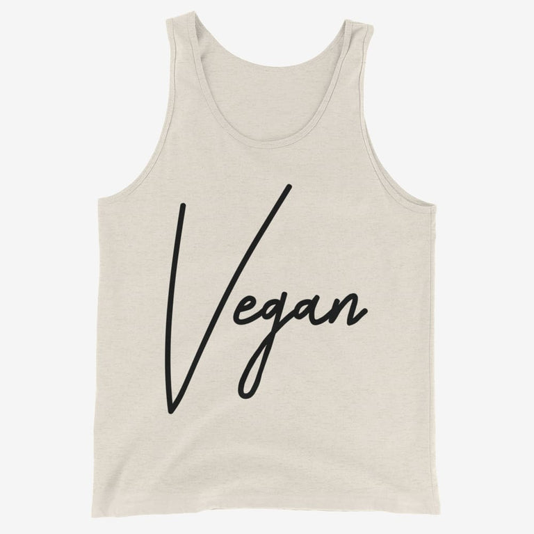 Mens Chic Vegan Tank Top - Oatmeal Triblend / Xs