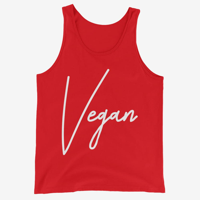 Mens Chic Vegan Tank Top - Red / Xs