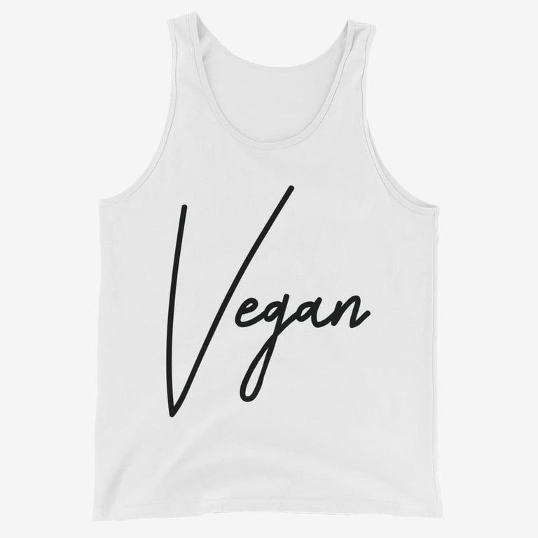 Mens Chic Vegan Tank Top - White / Xs