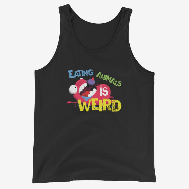 Mens Eating Animals Is Weird Tank Top - Black / Xs