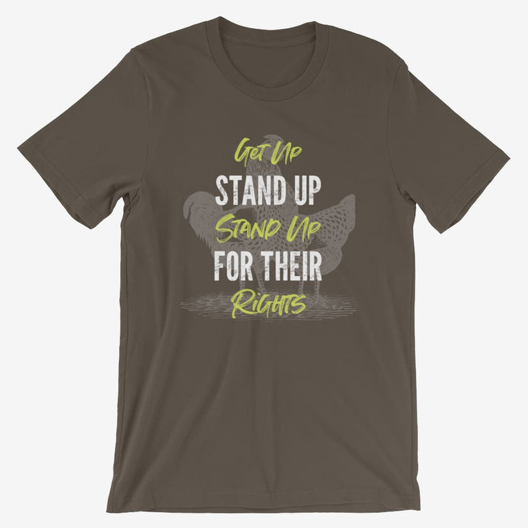 Mens Get Up Stand Up Short-Sleeve T-Shirt - Army / S