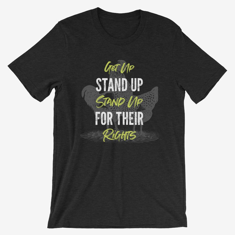 Mens Get Up Stand Up Short-Sleeve T-Shirt - Black Heather / S