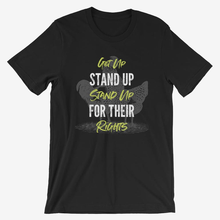 Mens Get Up Stand Up Short-Sleeve T-Shirt - Black / S
