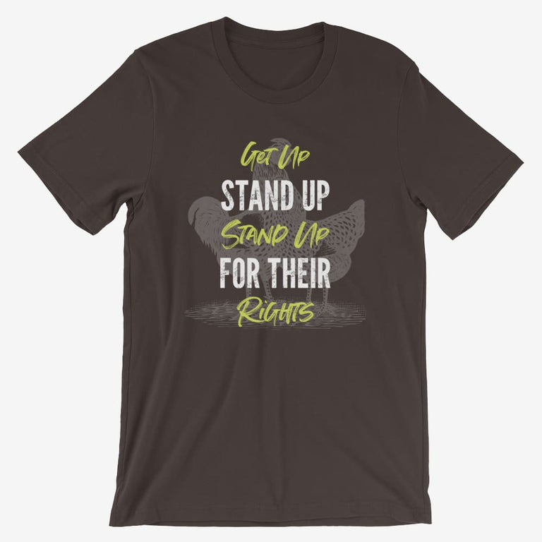Mens Get Up Stand Up Short-Sleeve T-Shirt - Brown / S
